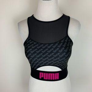 Puma Barbie Logo Black Sports Bra